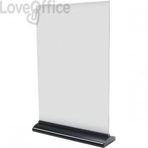 Porta-avvisi bifronte in acrilico Deflecto - A3 - 31x8x45,5 cm - 58340
