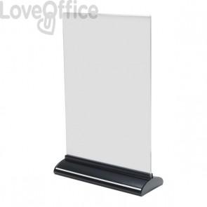 Porta-avvisi bifronte in acrilico Deflecto - A4 verticale - 22x8x33,3 cm - 58440