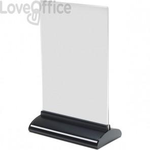 Porta-avvisi bifronte in acrilico Deflecto - A5 verticale - 16x8x24,6 cm - 58540