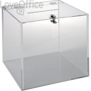 Teca in acrilico con serratura Tecnostyl - 25x25x25 cm - trasparente - ACR603