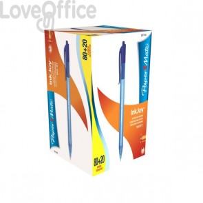 Penne a sfera Papermate Inkjoy 100- penne a scatto - blu (conf.80+20)