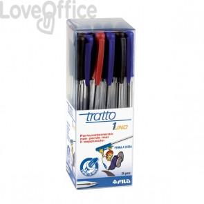 Penne a sfera Tratto 1 - Colori assortiti - Cappuccio (conf.24)