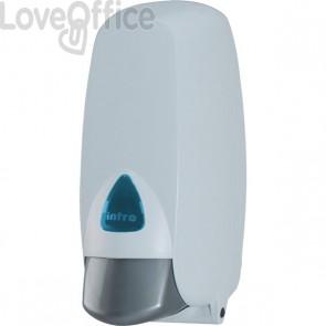 Distributore bagno QTS - x sapone in schiuma - 12,5x14x26,5 cm - con cartuccia da 400 ml