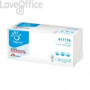 Asciugamani interfogliati Papernet - V - 2 veli - pura cellulosa - 22x21 cm - 210 - 411176 (conf.15)