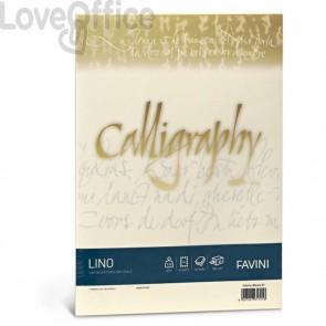 Calligraphy effetto lino Favini - lino - avorio - fogli - A4 - 200 g - A69Q614 (conf.50)