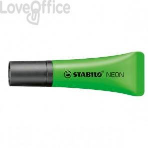 Evidenziatore NEON Stabilo - 2-5 mm - verde - 72/33 (conf.10)