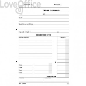 Blocco interventi domicilio - Formato: 21,5x14,8 cm - carta chimica- SEZH00050