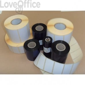 KIT etichette-ribbon Etiform - 76x40 - 3450 - 2 - 1/2'' - K076x040x050R1 (conf.2 ribbon; 3450 etic.)