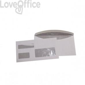 Pigna buste postali con finestra tripla - 11,5x23 cm - taglio arrotondato (conf.1000)