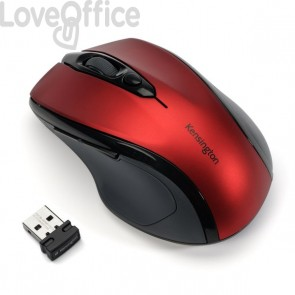 Mouse wireless Pro Fit™ Kensington - rosso rubino