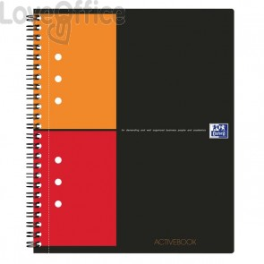 Quaderno con spirale ACTIVEBOOK INTERNATIONAL Oxford - A5+ - 80 fogli - 5 mm c/marg.
