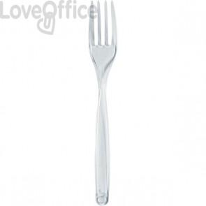 Forchette in plastica DOpla - trasparente - 3722 (conf.100)