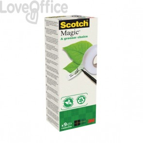 Nastro adesivo Scotch® Magic™ 900 - 19 mm x 33 m - 900-1933-9 (conf.9)