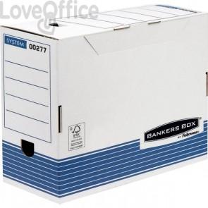 Contenitore archivio A4 dorso 15 cm R-Kive Prima Fellowes - 15,8x32,7x26,5 cm (conf.10)