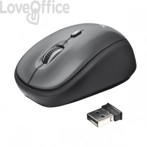 Mouse ottico wireless Trust Yvi nero