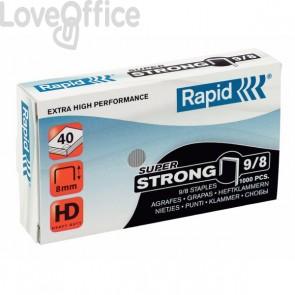 Punti per alti spessori Rapid - Punti metallici 9/8 Super Strong - 10-50 ff - 24871000 (conf.5000)