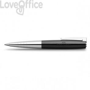 Penna a sfera finitura nera - Linea LOOM PIANO Faber Castell - 149310