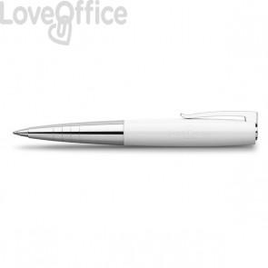 Penna a sfera finitura bianca - Linea LOOM PIANO Faber Castell - 149311