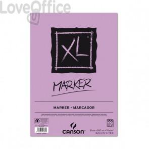 Blocco in carta collata XL Marker Canson - collato lato corto - A4 - 100 fogli