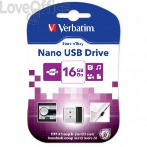 Chiavetta USB Verbatim Store'n Stay NANO - 16 GB - USB 2.0 - 97464