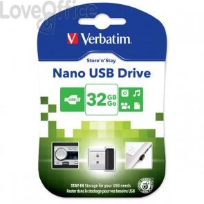 Chiavetta USB Verbatim Store'n Stay NANO - 32 GB - USB 2.0 - 98130