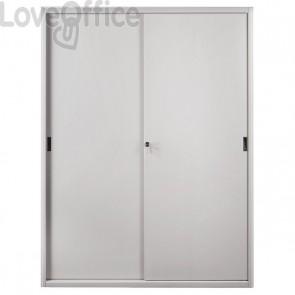 Armadio archivio in metallo grigio a porte scorrevoli - 615 Tecnical 2 - 4 ripiani - 150x45x200 cm