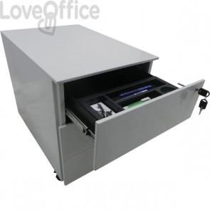 Cassettiera Metallo su ruote Tecnical 2 - 2 cassetti (1 classificatore) - bianco - 41x58x55,3 cm