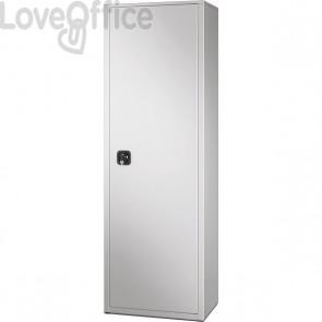 Armadio in metallo grigio multiuso - BA-60-PIANI Tecnical 2 - 4 ripiani - 60x41x181,5 cm