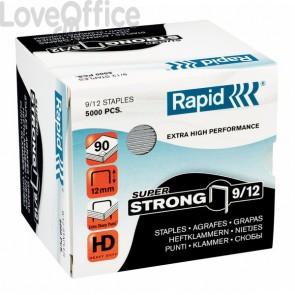 Punti per alti spessori Rapid - Punti metallici 9/12 Super Strong - 24871400 (conf.5000)
