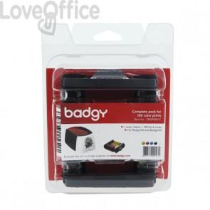 Consumabili per Badgy  - Kit di stampa composto da nastro di stampa multicolore - CBGP0001C
