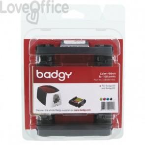 Consumabili per Badgy  - Nastro di stampa multicolore YMCKO 100 stampe - CBGR0100C