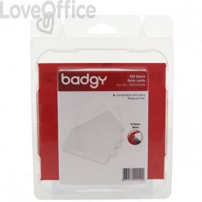 Consumabili per Badgy  - Tessere in PVC alto spessore 0,76 mm - CBGC0030W (conf.100)
