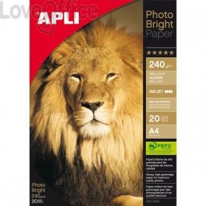 Carta fotografica A4 per stampanti Inkjet Glossy Decadry - 240 g (conf.20)