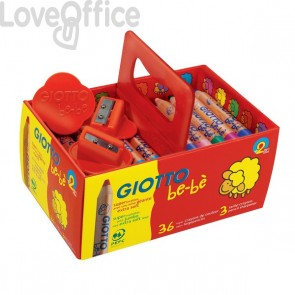 Schoolpack Super matitoni colorati Giotto Be-bè - 7 mm - da 2 anni in poi (conf.36)