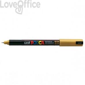 Pennarello Uniposca a tempera - Uniposca oro Uni-Ball - punta tonda - 0,7 mm