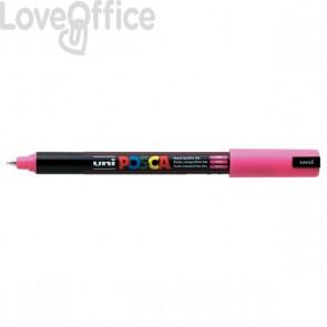 Pennarello Uniposca a tempera - Uniposca rosa Uni-Ball - tonda - 0,7 mm
