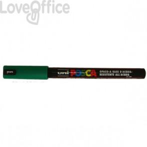 Pennarello Uniposca a tempera - Uniposca verde Uni-Ball - tonda - 0,7 mm