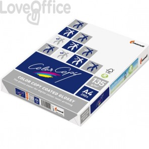 Carta per stampante Color Copy coated glossy - Risma carta A4 - 200 g/mq (250 fogli)