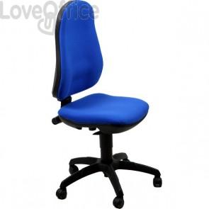 Sedia ergonomica Jazz Unisit - polipropilene - blu - AICP/EB