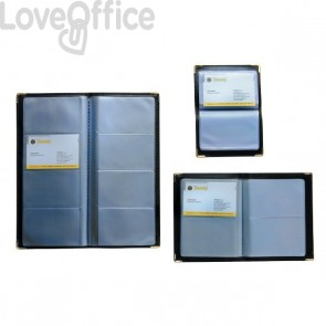 Portabiglietti da visita tascabili Tecnostyl - 64 posti - 11x14 cm - NC64