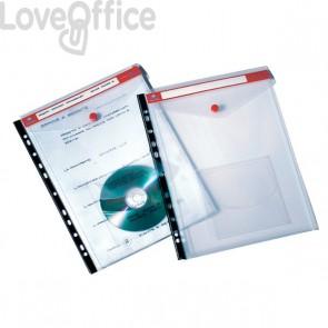 Buste con bottone e foratura universale Click 'n File Jumbo Tecnostyl - 23,5x31x1 cm (conf.5)