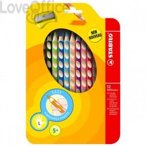 Matite Ergonomiche colorate Stabilo EASYcolors - Matite per mancini - 4,2 mm - da 5 anni (conf.12)