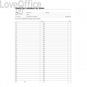 Registro verbali assemblee condominio Semper Multiservice - 245x310 mm - SE136400000