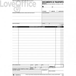 Blocco documenti di trasporto Semper Multiservice - Carta chimica 2 parti - 50x2 ff - SEZL00520