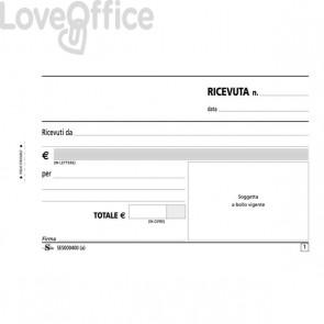 Blocco ricevute generiche Semper Multiservice - carta chimica 2 parti - 50x2 - SES000400