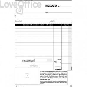 Blocco ricevute sanitarie Semper Multiservice - Carta chimica 2 parti - 148x215 mm - SEZ000500
