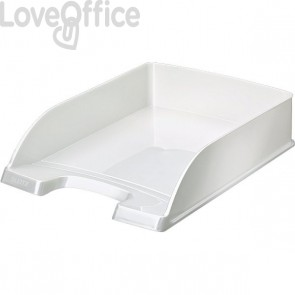 Vaschette portadocumenti Leitz Plus Standard Wow - 25,5x36x7 cm - Bianco perlato (Conf.5)