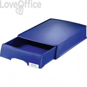 Vaschetta portacorrispondenza Leitz Plus Standard a cassetto - Blu fiordaliso