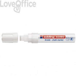 Pennarello per lavagna bianco Edding 4090 - A Gesso Liquido - Scalpello - 4-15 mm