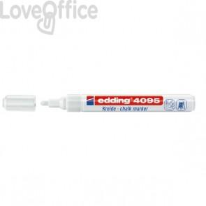 Pennarello per lavagna bianco Edding 4095 - A Gesso Liquido - Punta Tonda - 2-3 mm